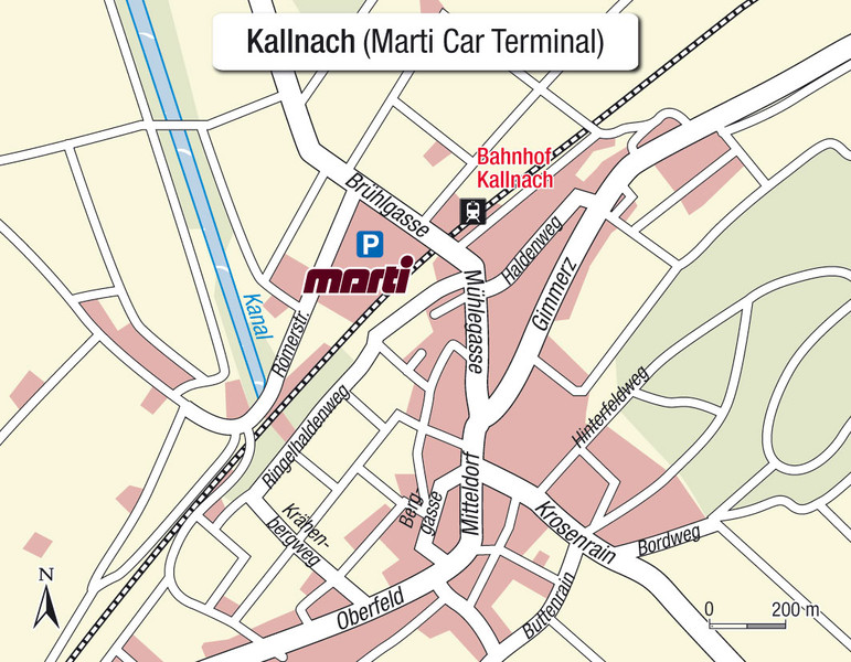 Karte Einsteigeort Kallnach