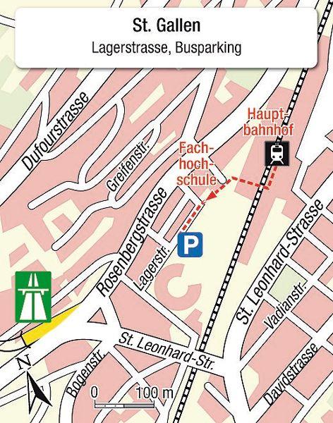 Karte Einsteigeort St. Gallen
