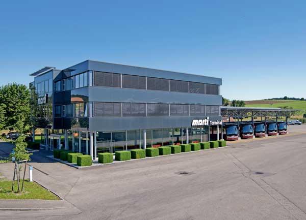 Marti Car Terminal in Kallnach mit Reisecars