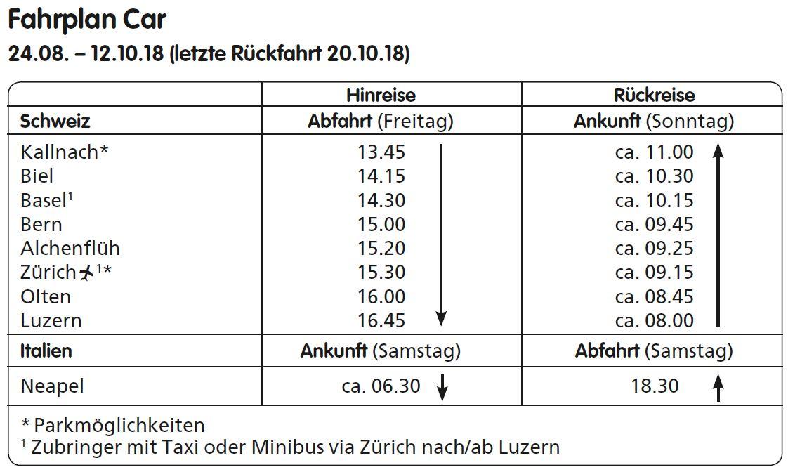 Nur-Fahrplan Ischia DE