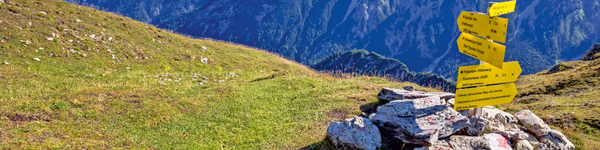 Wanderwegweiser im Tirol