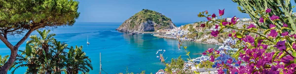 Blick aufs Meer auf der Ferieninsel Ischia
