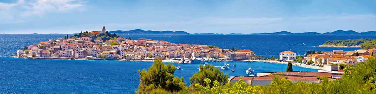 Stadt an der Adria in Dalmatien