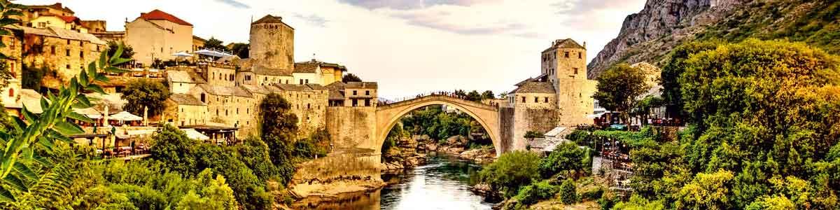 Brücke von Mostar auf Bosnien Rundreise