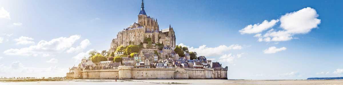 Mont St Michel während Marti Carreise