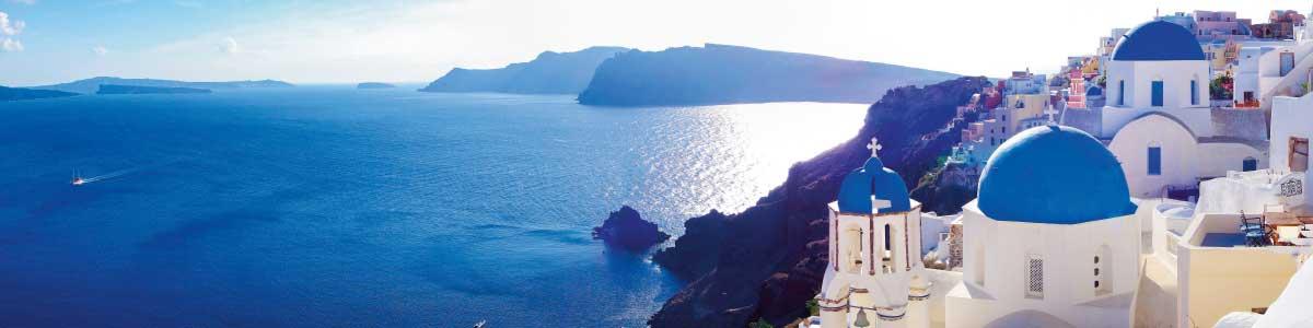 Blick auf Santorini in Griechenland