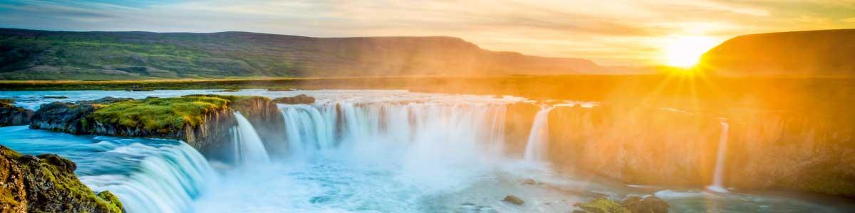 Slider Rundreisen Island Wasserfall