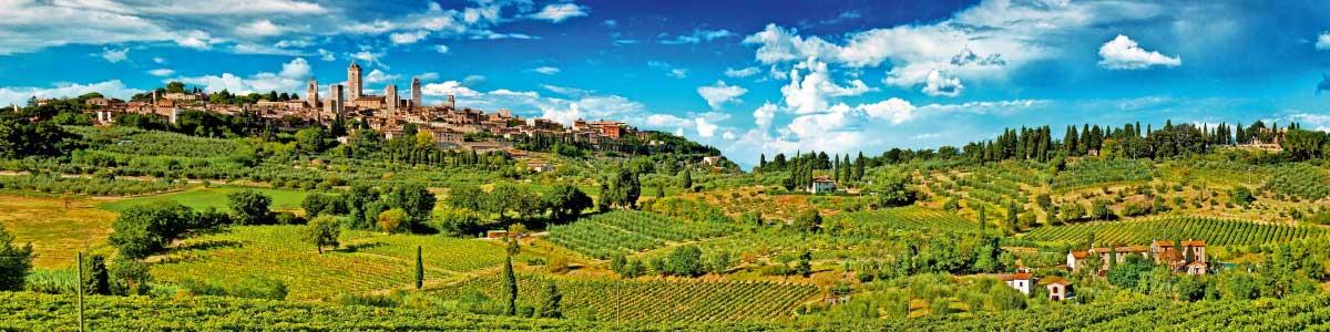 Blick in die Toskana auf Marti Rundreise