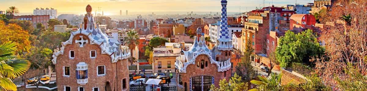 Blick auf Barcelona während Marti Rundreise