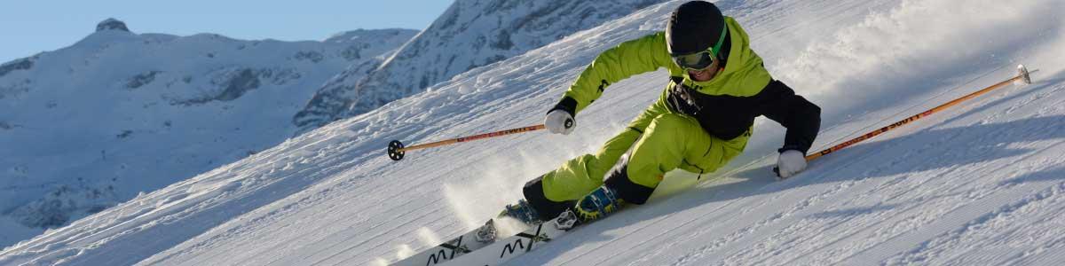 Skifahren an der Lenk