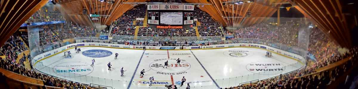 Eishockeyhalle Spengler Cup in Davos